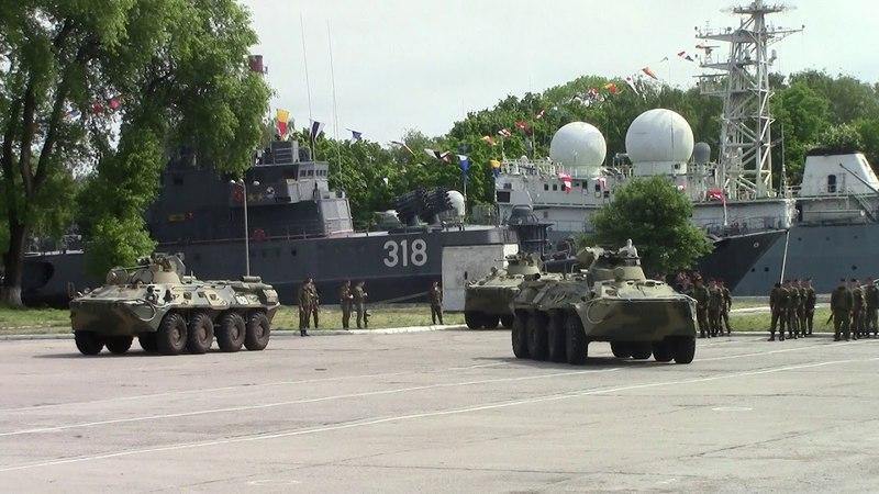 Тренировка парада Балтийского гарнизона в честь Дня Балтийского Флота 18 мая 2018 год