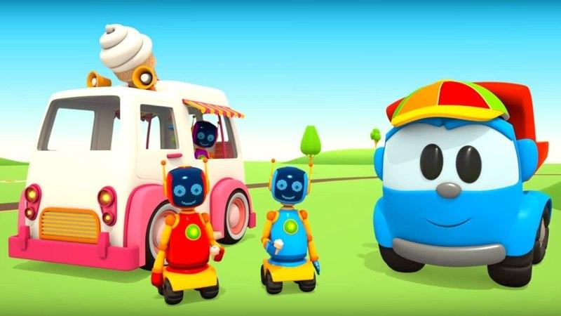 Dessin animé pour enfants de Leo le camion: Camion à glace
