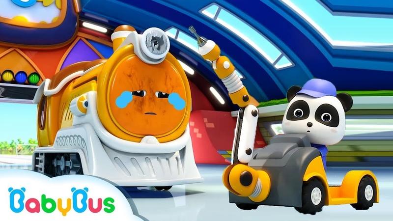 ★NEW★ SLマンが動かないよ! | 修理屋さんごっこ | 赤ちゃんが喜ぶアニメ | 動