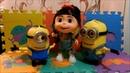 Trio Talking Minions | Agnes, Minion Dave, Minion Stuart | Despicable Me
