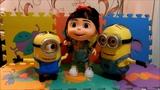 Trio Talking Minions Agnes, Minion Dave, Minion Stuart Despicable Me