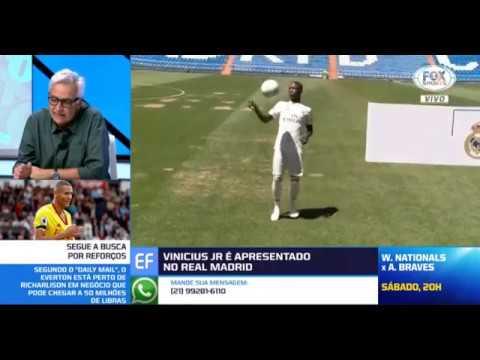 Vinicius Jr apresentado no Real Madrid Ronaldo Fenomeno elogia o craque Analise de debate