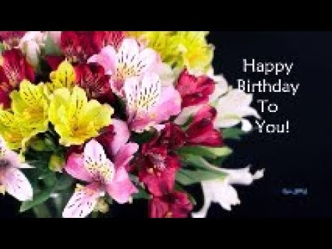Happy Birthday Special Video - Dancing Flowers 2