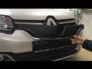 Зимняя заглушка решетки радиатора Renault Logan 2