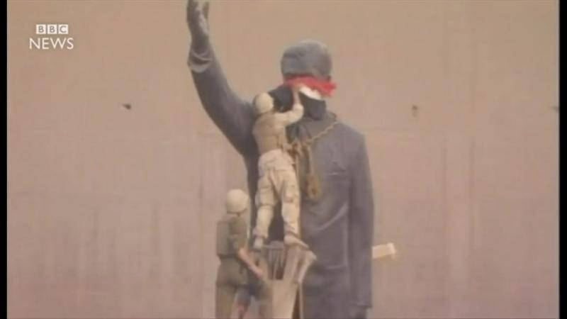 Иракец сваливший статую Саддама Хуссейна в Багдаде раскаивается спустя 13 лет