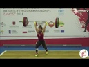 Наталья Шелег (BLR) - Junior Women 53kg, European Junior U23 Championships 2018