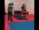 Some wrestling training
