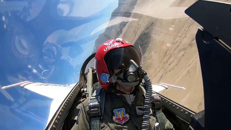 Female Thunderbird Pilot Mace • In-flight Cockpit Video