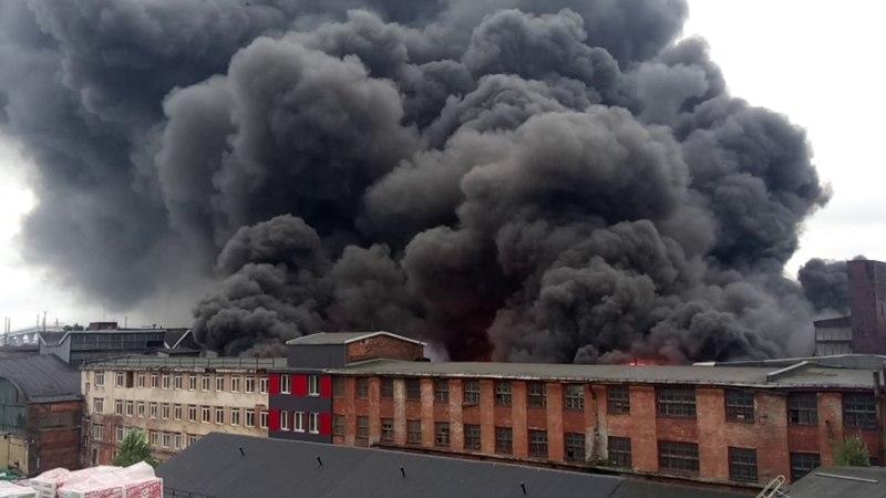 Пожар на Кировском заводе цех 225