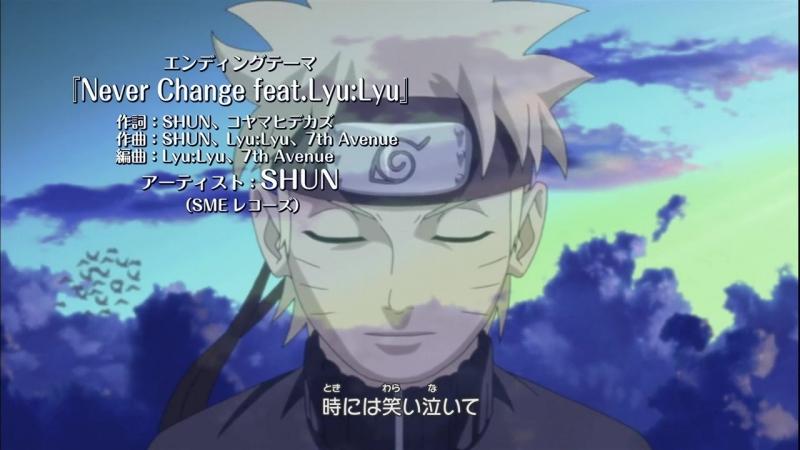 Naruto Shippuuden Ending 30 [SHUN feat.Lyu Lyu - Never Change]