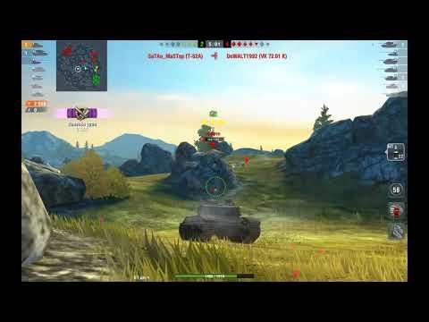 WoT blitz - Затащил катку на B-C 25 t Мушкетёр - world of tanks blitz