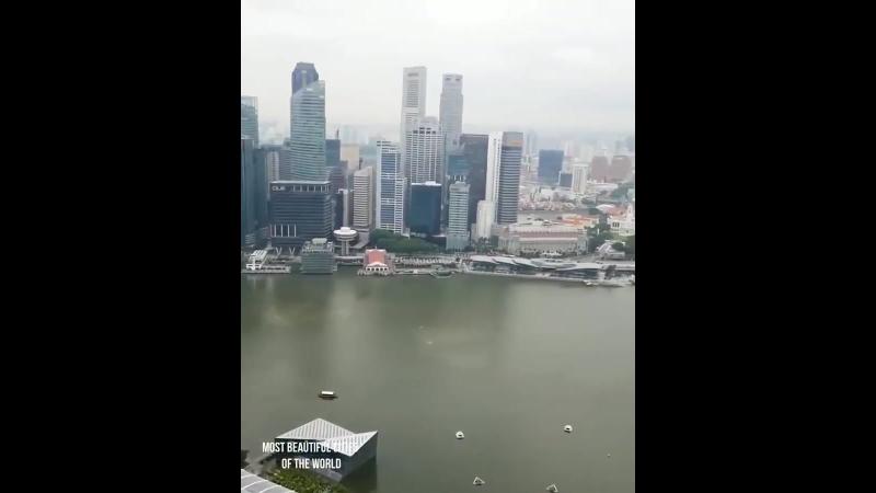 Самый высокий бассейн в мире - 56 этаж, Марина Сэндс, Сингапур.