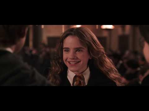 Hermione hugs Potter
