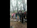 съёмки массовки в лесу