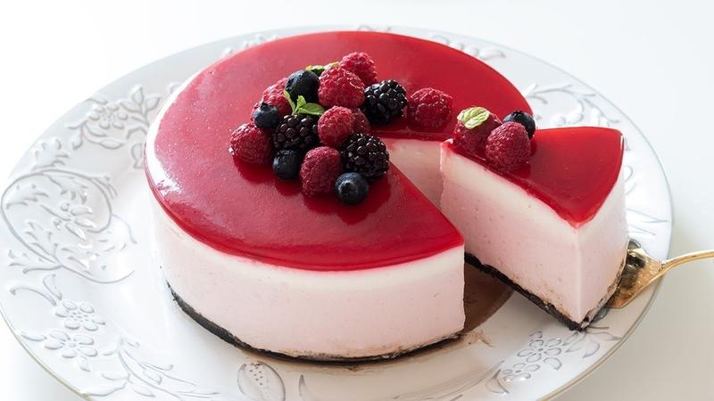 ラズベリーレアチーズケーキの作り方 No-Bake Raspberry Cheesecake|HidaMari Cooking