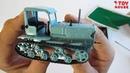 Коллекционная модель гусеничного трактора СХТЗ-НАТИ масштаб 1/43 распаковка и обзор