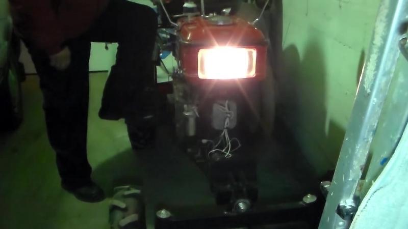 Делаем стабильный свет передней фары на мотоблоке - минитракторе