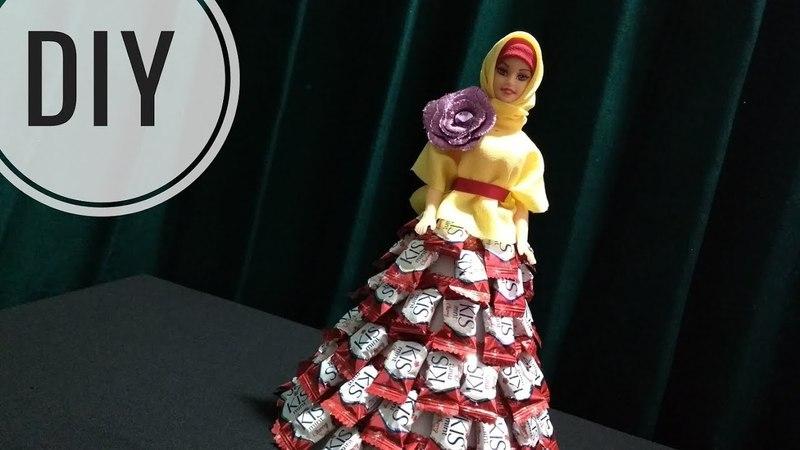 DIY    Tutorial Barbie Candy Dress   Barbie Gaun Permen Untuk Lebaran