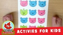 Counting Bears Activity for Kids Maple Leaf Learning Playhouse