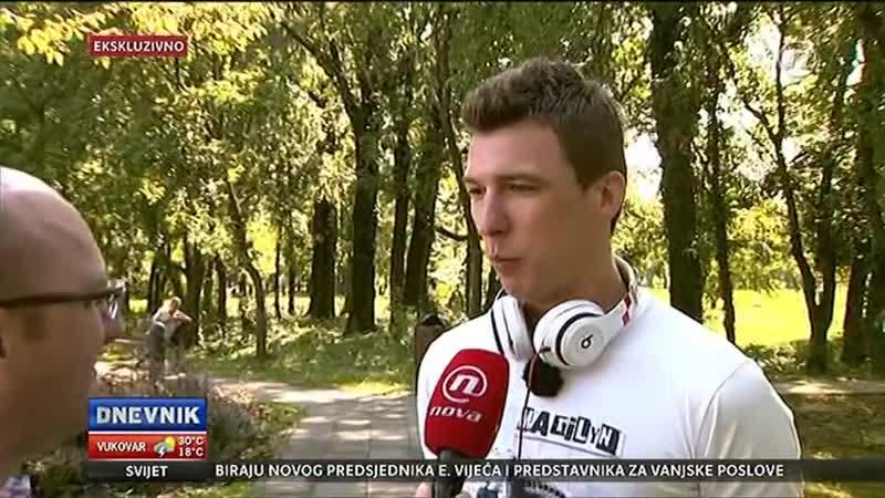 Mario Mandžukić govori za Dnevnik Nove TV