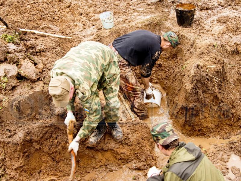 Возле Славянска нашли захоронение солдат Второй мировой войны