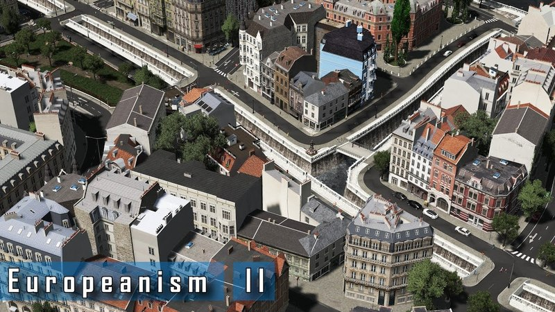 Cities Skylines - E u r o p e a n i s m II - Narrow inner-city canals