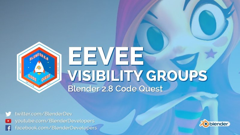 Light Probe Visibility Group in EEVEE - Blender 2.8 Code Quest