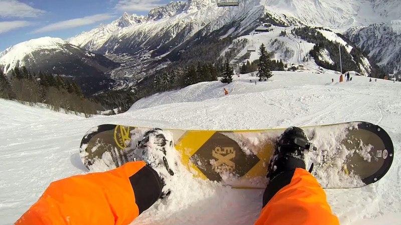 Chamonix Snowboarding 2018 (Chamonix, Alps, France) / GoPro Hero 3 (1080p)/ Snowboarding Noob :D