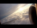 Delta Airlines MD-88 takeoff from Milwaukee (cabin view)