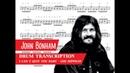 John Bonham - I Can't Quit You Baby (Coda) - Drum Transcription (PDF, Slow Motion)