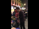 Andrew Garfield signs autographs and gives hugs