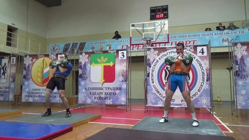 Весовая категория до 78кг, Баер Павел 113 подъёмов, Новиков Александр 154 подъёма, гири 24кг.