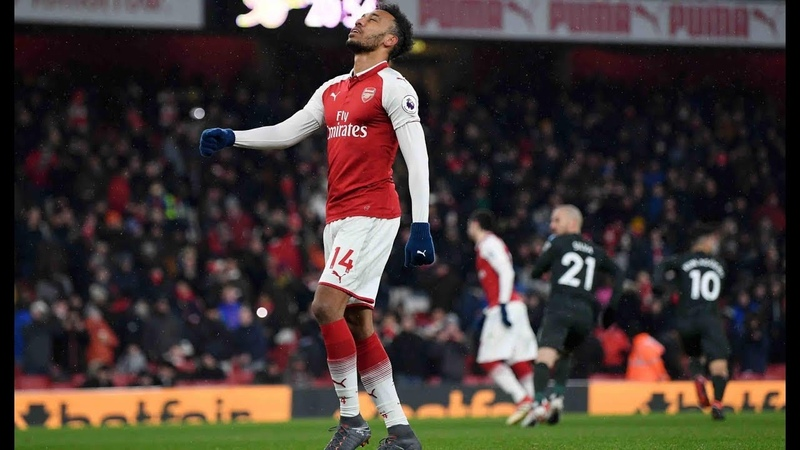 Ederson saves Aubameyang's penalty Wenger is pissed