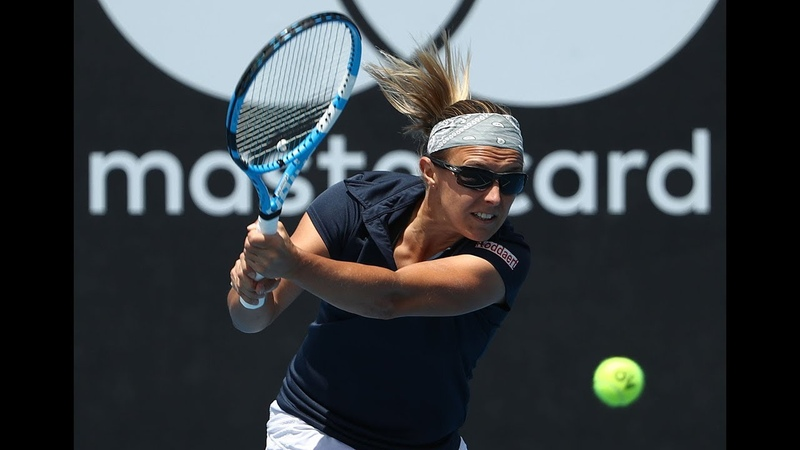 Kirsten Flipkens | Shot of the Day | 2019 Hobart International Quarterfinals