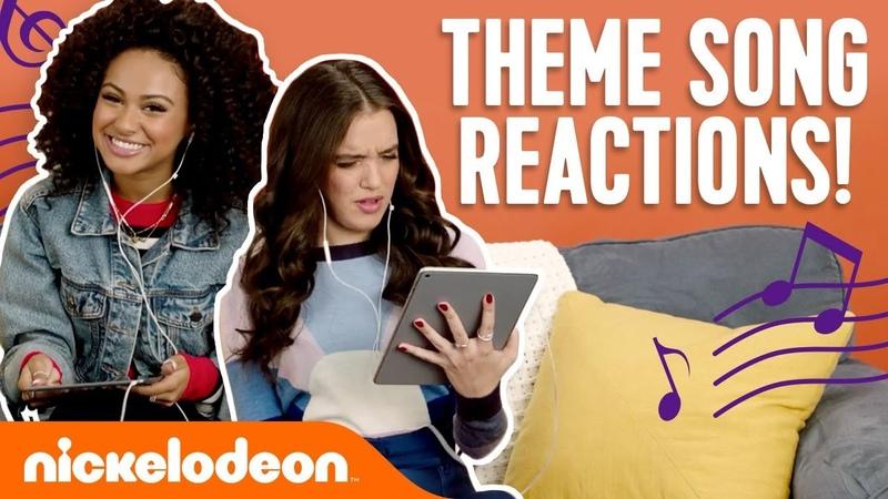 Nick Stars React To Theme Songs 🎵 Ft. JoJo Siwa, Daniella Perkins More!   NickStarsIRL