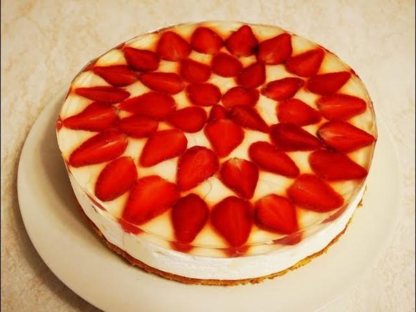 ДЕСЕРТ который покорит ВАШЕ сердце ВАНИЛЬНО КЛУБНИЧНЫЙ торт