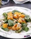 Теплый салат с тыквой и чечевицей 🥗