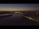 Вечірній Київ з висоти птахів (Осокорки, Позняки, Харківський) Київ Kyiv SV_Київ