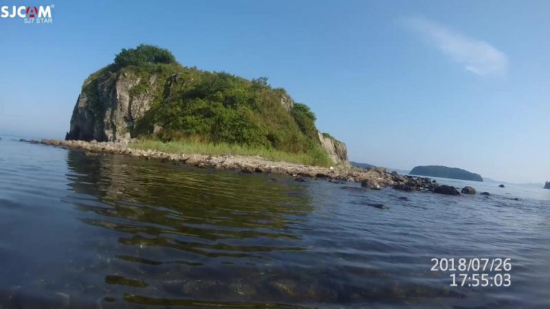 Море. Бухта Табунная, островок. Приморье 18 г