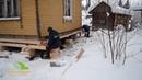 Подъем дома с частичной передвижкой в Архангельске Винтовой фундамент