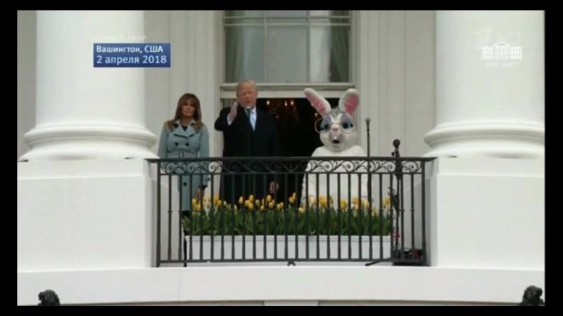 Весёлый месседж Трампа хоккей пасхальными яйцами пасхальные 700млрд на ВПК король королева белый кролик и пасхальная любовь