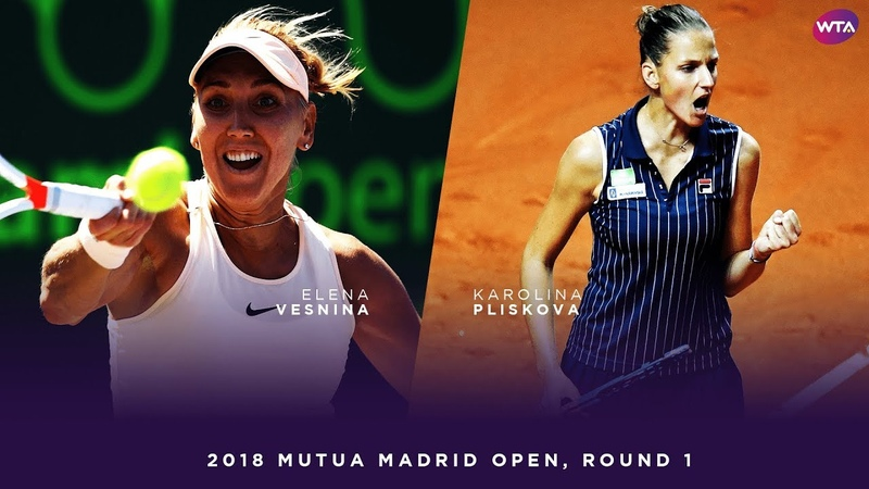 Elena Vesnina vs Karolina Pliskova 2018 Mutua Madrid Open First Round WTA Highlights