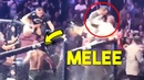 Sneaky McGregor hitting people inside the ring WHO CAUSED MELEE INSIDE UFC 229 OCTAGON MCGREGOR vs TEAM KHABIB