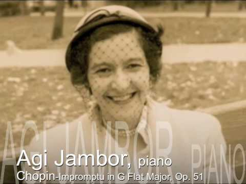 Agi Jambor, Chopin Impromptu in G Flat Major, Op 51