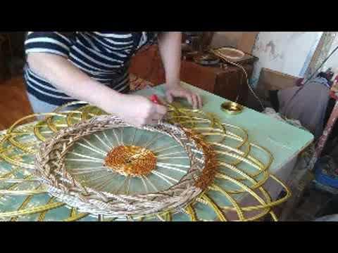 Как красить панно. Видео плетение.