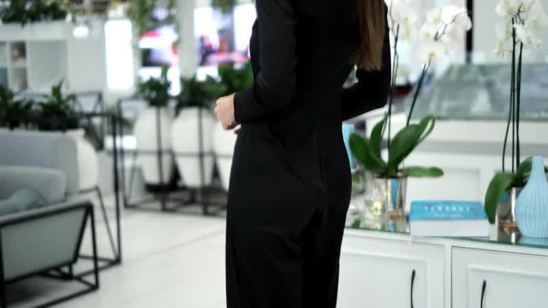 Комбез чёрный шёлк