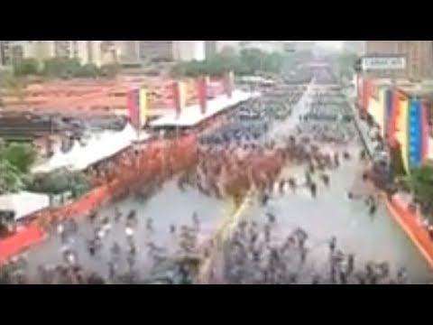 Atentado contra Nicolas Maduro, explosión en parada militar, caracas Venezuela