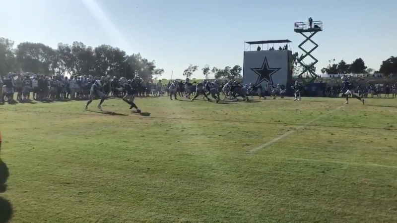 Donovan Olumbo breaks up Allen Hurns CowboysCamp Day 10