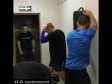 Александр Поветкин отрабатывает боковой удар