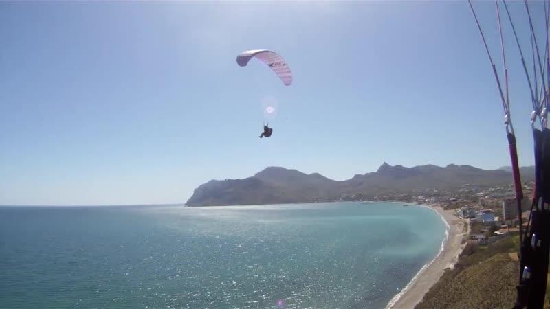 Бриз, Коктебель, Погранцы, апрель (Paragliding в Крыму)